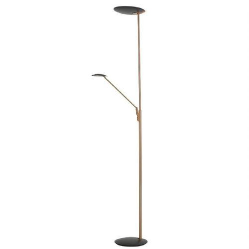 LED Floor Lamp Standard Mother And Child Copper And Grey LXOUN4964-17